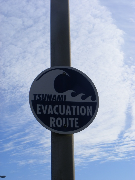 Tsunami sign, Aberdeen