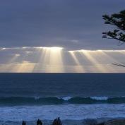 Sundown over the Indian Ocean